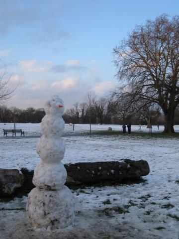 Snow man!