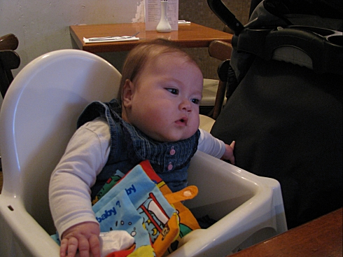 In high chair