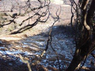 s土石流の源頭