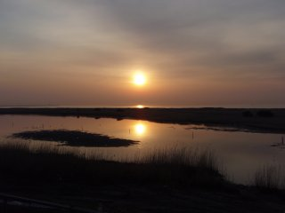 s蒲生干潟の朝日