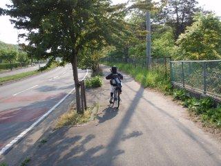 s初めて自転車で2