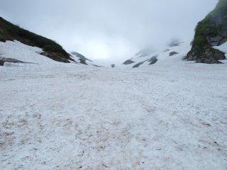s07石転び沢の雪渓4