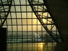 スワンナプーン空港の朝の霞