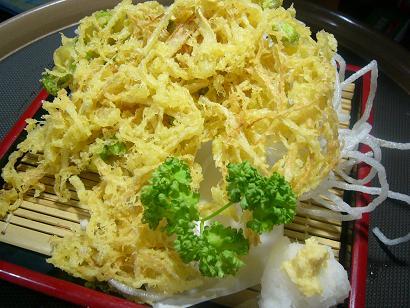 新生姜と枝豆のかき揚げ1