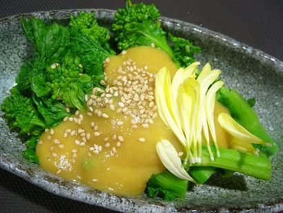 菜の花の辛子酢味噌2 (2)