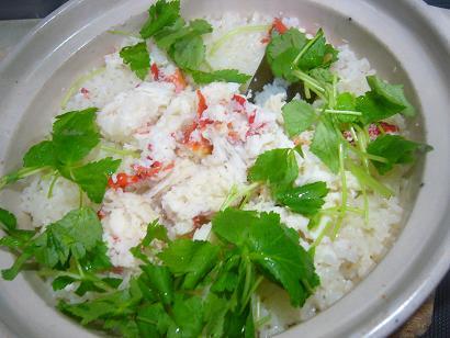 蟹の炊き込みご飯2