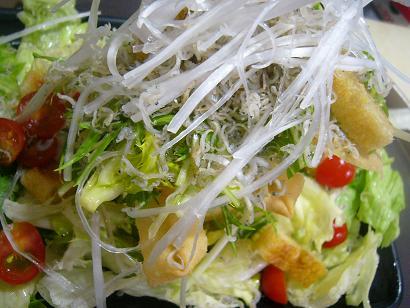 しらすと水菜サラダ5