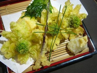 湯葉豆腐とふきのとう (1)小