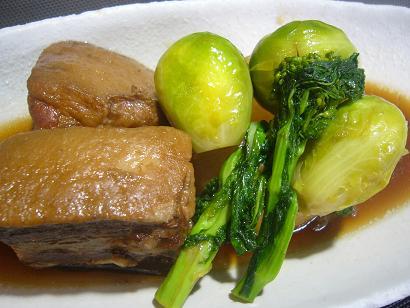 芋豚と芽キャベツの角煮6 (2)
