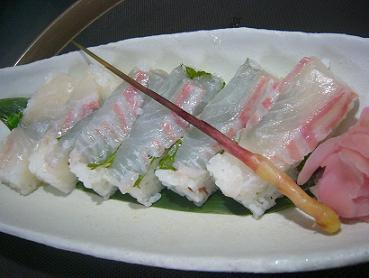 桜鯛押し寿司2 (2)