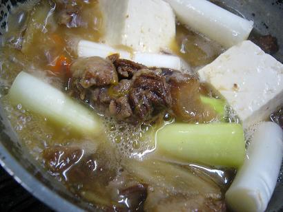 ネギと牛スジ煮込み (2)