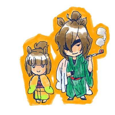 淀さんとお菊ちゃん。