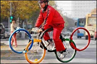 オリンピック専用5輪自転車:面白画像