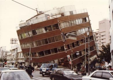 阪神大震災の被害写真1