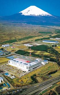 富士山が見える御殿場工業団地内