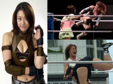 石川美津穂!女子プロレス試合!  完全無修正写真