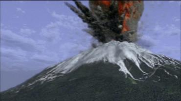富士山噴火イラスト 完全修正画像