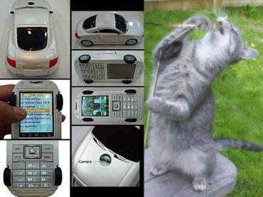 使いに、くそうな携帯電話に猫は歌う!画像