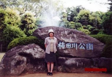 清水町の柿田川公園で智んころ姉ちゃん完全修正デジカメ写真画像