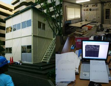 現場事務所の内部完全無修正デジカメ写真画像