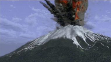 富士山噴火画像
