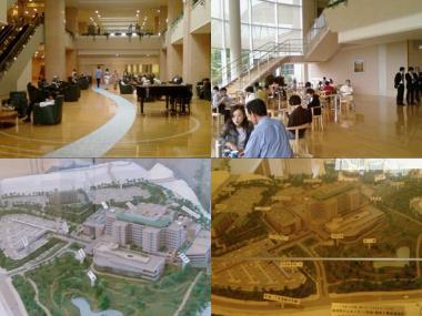 静岡がんセンター待合ホールとスタディ模型完全無修正デジカメ写真画像