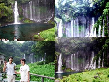 白糸の滝で嫁とてるみん完全無修正デジカメ写真