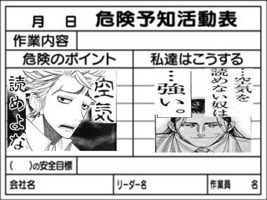 業者のKY:危険予知活動表
