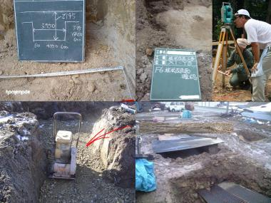 基礎掘りに落ちた位置