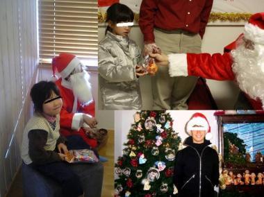 サンタに変身してお菓子を配る自分です完全無修正写真