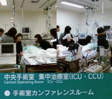 静岡県東部医療センター入院中の親父を皆で見舞う:完全無修正写真画像