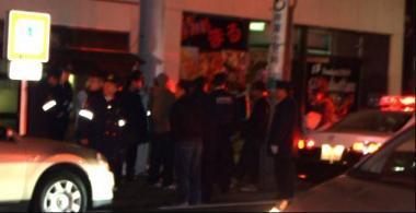 昨夜、親父の見舞いから帰宅中に目撃した三島大社付近の事件!成人式の後の騒ぎ事件か:完全無修正写真画像