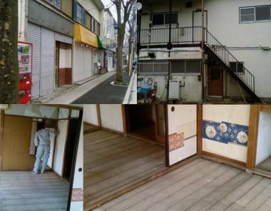 川崎市宮前区の現場前の現場事務所2階:完全無修正写真
