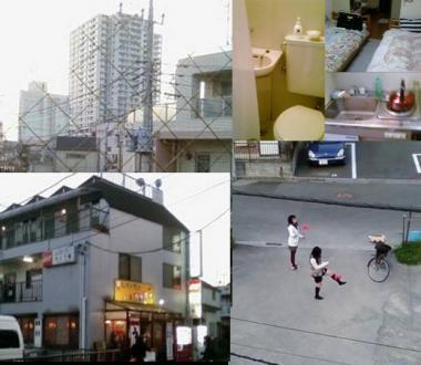 登戸駅付近のファミリー民宿 みどり館からの撮影:完全無修正写真