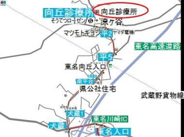 川崎市の現場までの道順ルート:完全無修正画像