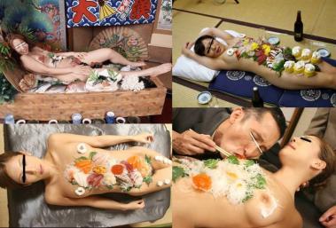 女体盛りの刺身料理送別会開催された:完全無修正写真画像