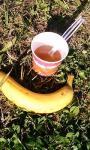 あったかスープとバナナ