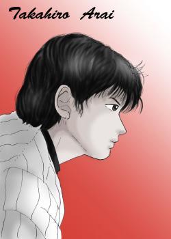 新井さん男前横顔(白黒)