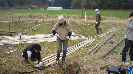 竹ビニールハウス01