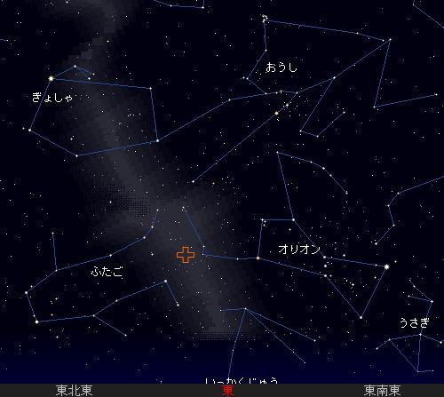 2009 10  21 オリオン座流星群星図