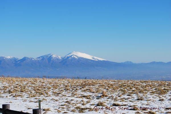 蓼科牧場からの浅間山