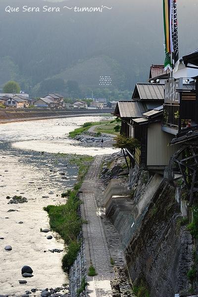 宮が瀬橋から見た夕暮れの吉田川