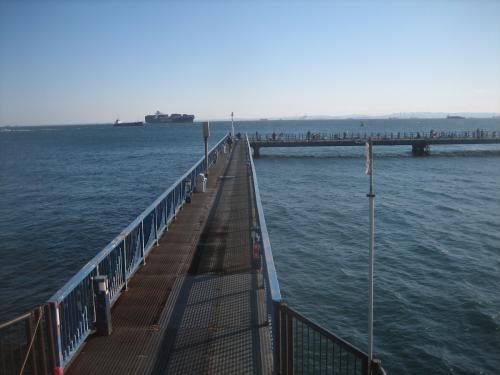 10:30頃の渡り桟橋