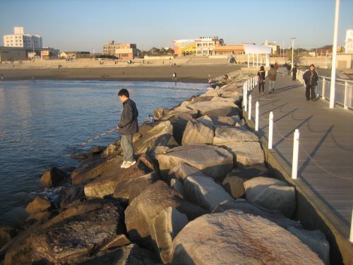 左側堤防風景