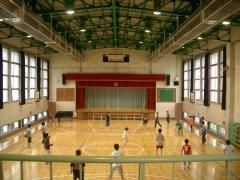 体育館遊びの写真