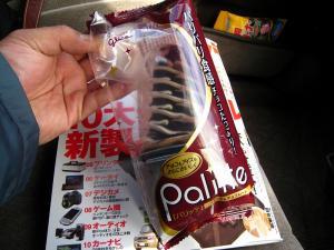 Glico・グリコ「Palitte・パリッテ」、パリパリ食感チョコのアイスクリーム・バニラ1