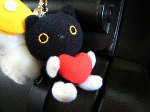 僕の車のマスコット「ソックス猫・クロちゃん」