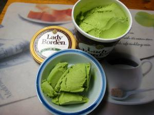 「レディー・ボーデン、抹茶」アイスクリーム3