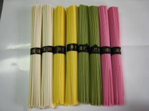 4色の素麺「紫蘇・抹茶・玉子・そのまま』、綺麗で食欲が増します!1