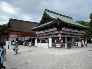 「京都・祇園祭撮影行」2009、6、「八坂神社御本殿と舞殿」